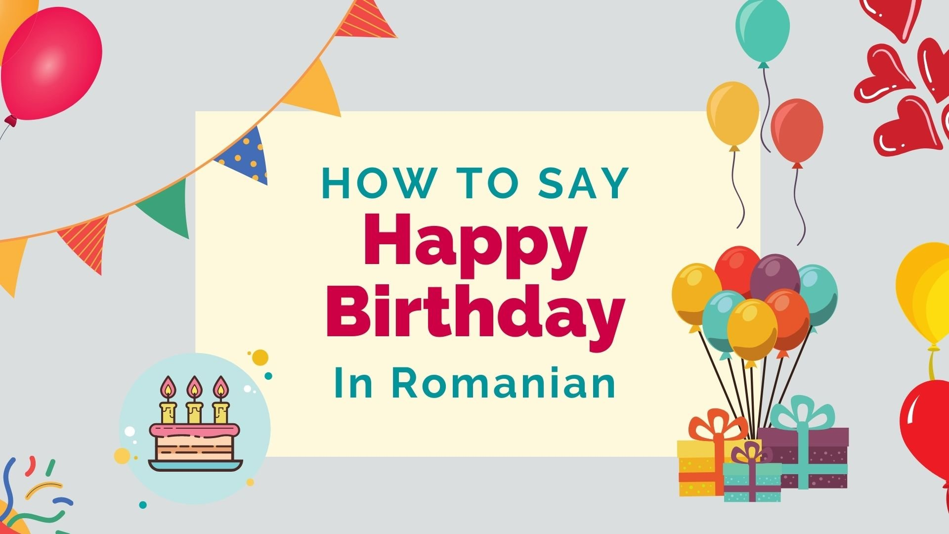 how to say happy birthday in Romanian